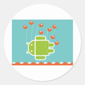 Android versagen Wal Runder Aufkleber
