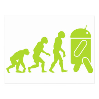 Androide Evolution Postkarte