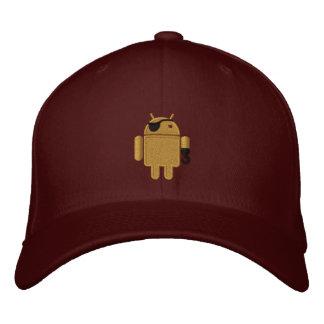 Androide Roboter-Piraten-Stickerei Bestickte Baseballkappe