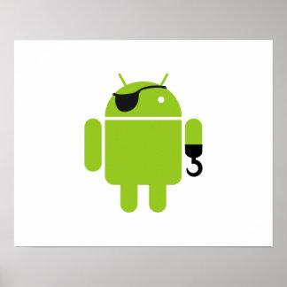 Androider Roboter-mächtiger Pirat Poster