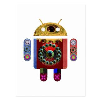 ANDROIDER Roboter Postkarte