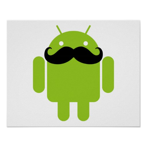 Androider Roboter-Schnurrbart Plakatdruck