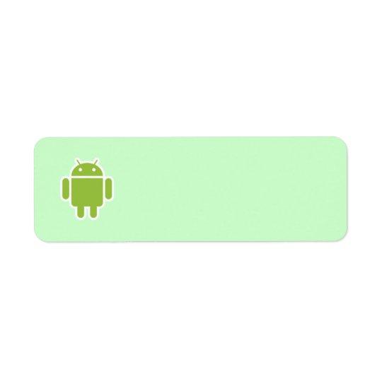 Androides Adressen-Etikett Rücksendeetiketten