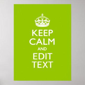 Androides Grün behalten Ruhe und Ihren Text Plakatdruck