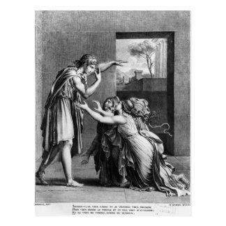 Andromache an den Füßen von Pyrrhus Postkarte