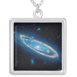 Andromeda-Galaxie Versilberte Kette