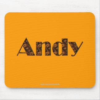 ANDY Name-Brannte Geschenk Mousepad ein