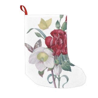 Anemonen- und Gartennelkenblumenstrauß Kleiner Weihnachtsstrumpf