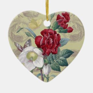 Anemonengartennelke Rosen Keramik Ornament