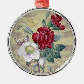 Anemonengartennelke Rosen Silbernes Ornament