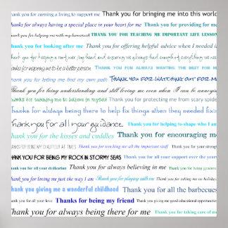 Anerkennungs-Reihe - danke Vati für… Poster