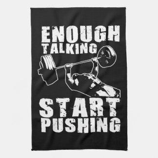 Anfang, der drückt - Bank-Presse - den Workout Handtuch