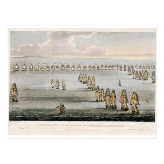 Anfang der Schlacht von Trafalgar, 21. Octo Postkarte