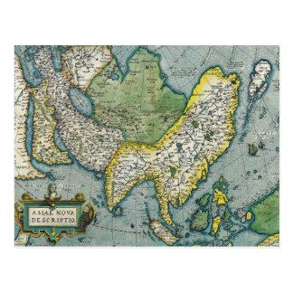 Anfang- des 16. Jahrhundertskarte von Asien Postkarte