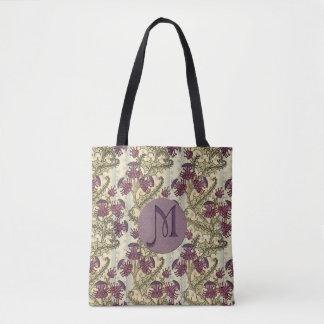 Anfangskunst Nouveau lila Distel-Blume Tasche