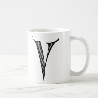 AnfangsTasse - Buchstabe 'V Kaffeetasse