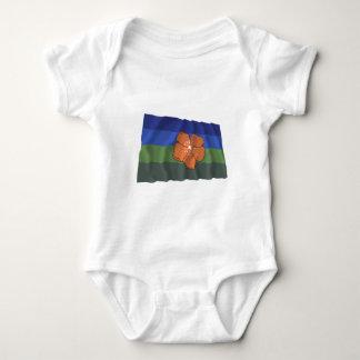 Angaur wellenartig bewegende Flagge Baby Strampler
