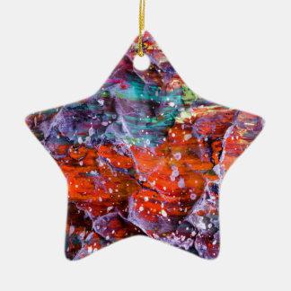 Angebeteter Schuft Keramik Stern-Ornament