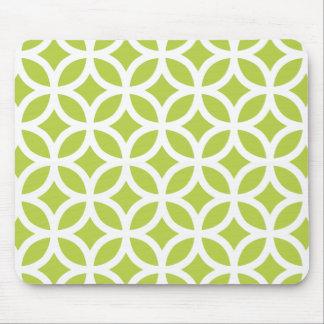 Angebot schießt grünes geometrisches mousepad