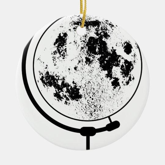 Angebrachte Mondkugel auf drehendem Schwenker Rundes Keramik Ornament