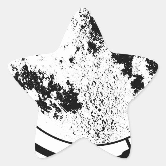 Angebrachte Mondkugel auf drehendem Schwenker Stern-Aufkleber