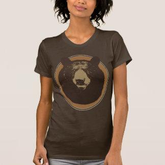 Angebrachte Taxidermy-Bärn-Kopf-Grafik T-Shirt