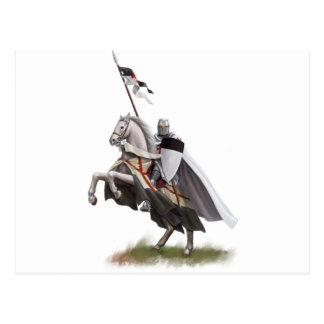 Angebrachter Ritter Templar Postkarte