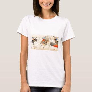 Angebrachtes Bogenschießen, das Hunde circa 1896 T-Shirt