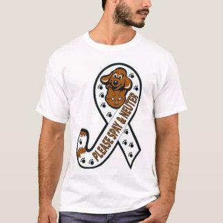 Angebundenes Bewusstseinsband: Bitte spay u. T-Shirt