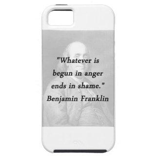 Angefangen im Ärger - Benjamin Franklin Etui Fürs iPhone 5