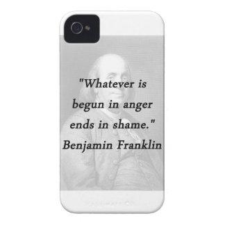 Angefangen im Ärger - Benjamin Franklin iPhone 4 Cover