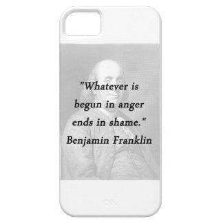 Angefangen im Ärger - Benjamin Franklin iPhone 5 Hülle