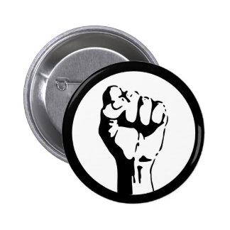 Angehobene Faust Runder Button 5,7 Cm