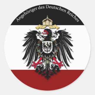 Angehöriger DES Deutschen Reiches Runder Aufkleber