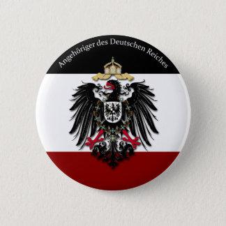 Angehöriger DES Deutschen Reiches Runder Button 5,7 Cm