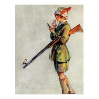 Angekleidet für die Jagd Postkarte