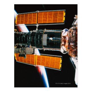 Angekoppelter Satelitte Postkarte