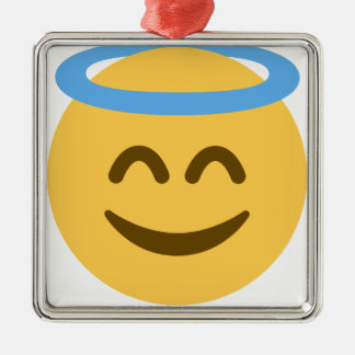 Angel Emoji Silbernes Ornament