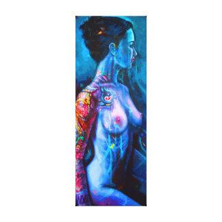 Angel with tattoo leinwanddruck