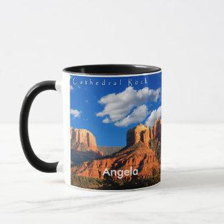 Angela auf Kathedralen-Felsen und Gericht-Tasse Tasse