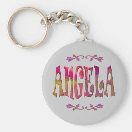 Angela Keychain Standard Runder Schlüsselanhänger