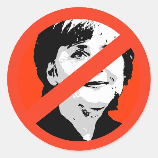 Angela Merkel Runder Sticker