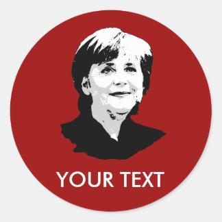 Angela Merkel Runde Aufkleber
