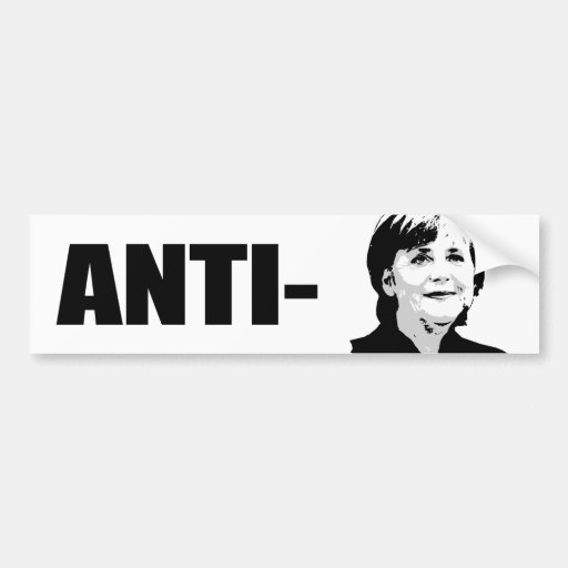 Angela Merkel Auto Aufkleber