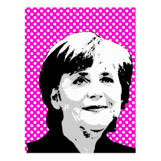 Angela Merkel Postkarte
