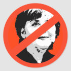 Angela Merkel Runder Aufkleber