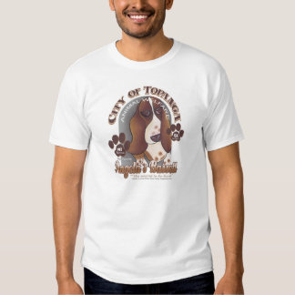 Angelas Basset durch Robyn Feeley T Shirt
