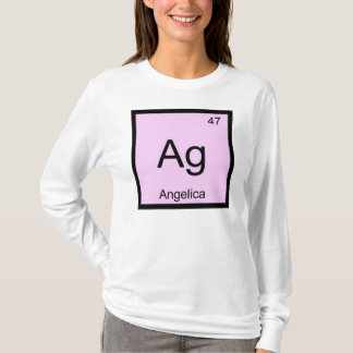 Angelika-Namenschemie-Element-Periodensystem T-Shirt