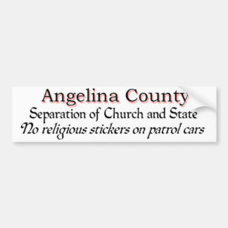 Angelina County Protest Autoaufkleber