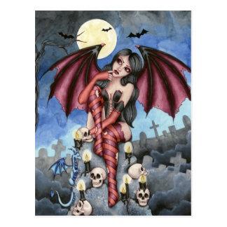 Angelique - Vampirs-Fee-Postkarte Postkarte